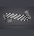 black and white checkered flag or banner vector image