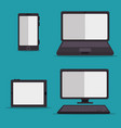 set of technology devices vector image