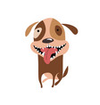funny smiling puppy icon happy cartoon dog vector image