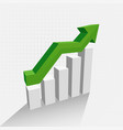 3d growth chart diagram with shadow vector image vector image