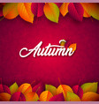autumn with falling leaves and vector image vector image