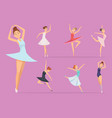 ballet dancers girl ballerina woman happy vector image