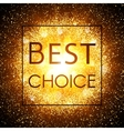 Best choice Banner on explosion background vector image vector image