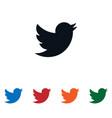 bird flying icon vector image vector image