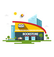 bookstore building with book symbol on facade vector image vector image