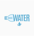 bottle water design water bottle logo on white vector image