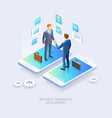 business partnership conceptual design vector image vector image