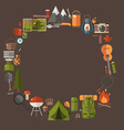 Camping and Hiking Lifestyle Background vector image vector image