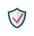check shield flat icon vector image