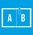 children abc icon white vector image vector image