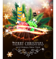 Christmas decorations with candles and fir vector image vector image