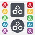 Cog settings sign icon Cogwheel gear mechanism vector image