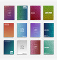 collection of digital abstract posters - tech vector image