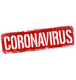 coronavirus sign or stamp vector image vector image