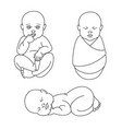 cute baby boy or girl lovely sleeping swaddled vector image