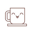 cute cartoon coffee cup and dish character vector image
