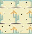 cute funny cactus with sombrero print for texture vector image