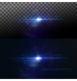 Digital lens flare effect vector image vector image