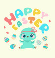 easter cute cartoon chicken vector image vector image