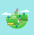 eco friendly green world concept with clean energy vector image