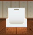 empty cardboard or visit card display box with vector image vector image