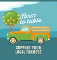 farmers market concept vector image