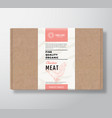 fine quality organic poultry craft cardboard box vector image vector image