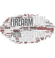 firearms word cloud concept vector image vector image