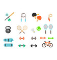 fitness and sport icons for web and mobile vector image