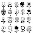 flower icon collection vector image vector image