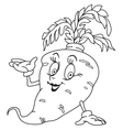 Fresh carrot cartoon vector image vector image