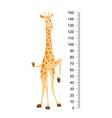 funny giraffe cheerful funny giraffe with long vector image
