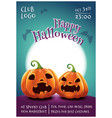 happy halloween editable poster with scared vector image vector image