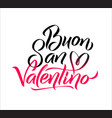 happy valentines day italian black and pink vector image