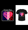 i love you paris vector image