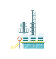 industrial factory isolated icon vector image vector image