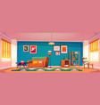 interior living room in boho style vector image