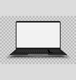 laptop pc isolated on white vector image vector image