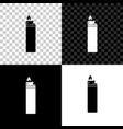 lighter icon isolated on black white and vector image vector image