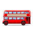 London bus isolated on white