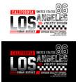 los angeles california 86 typography design vector image vector image