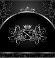 luxury vintage aluminium frame template - vector image vector image