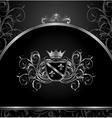 luxury vintage aluminium frame template vector image