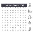 male business line icons signs set vector image vector image