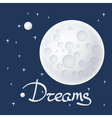 Moon with Stars and Text