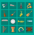 music studio musical instruments producer record vector image