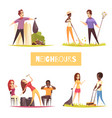 neighbors 2x2 design concept vector image vector image