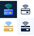 nfc payment and credit card stock icon set the vector image vector image