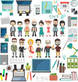 office modern design elements collection vector image