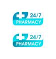 pharmacy 24 7 sign - logo for medical service